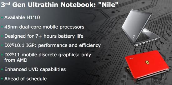 nile - Plataforma Nilo da AMD para netbooks