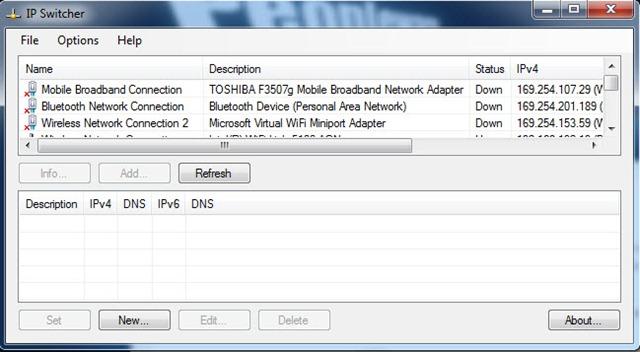 ip switcher 1 - Troque de IP rapidamente com IP Switcher 1.0.0.7