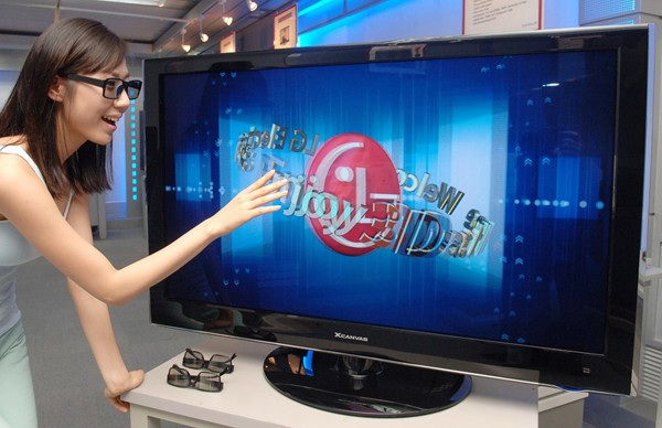 lg first 3d tv - LG lançar TVs 3D mais baratas.