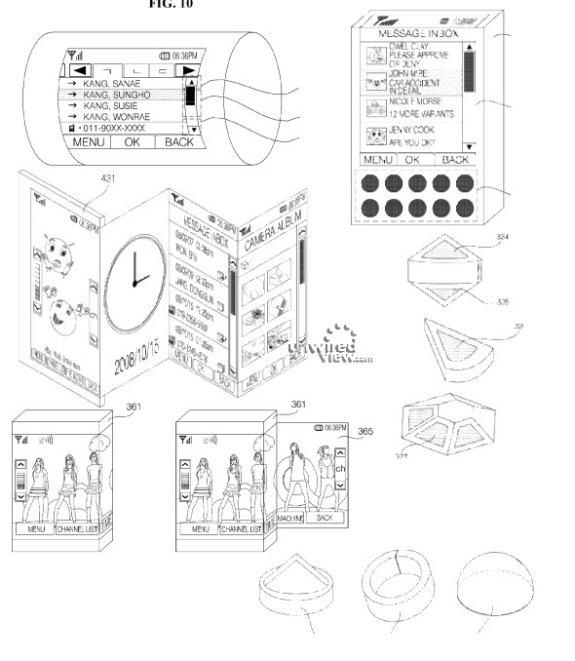 lg flexible display patent may2010 - LG resgistra patente de gadget com tela flexível