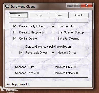 Cleaner 1 - Limpe o seu Menu Iniciar com Start Menu Cleaner