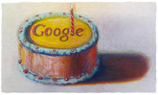 imagem 12 anos google - Google, feliz 12º aniversário
