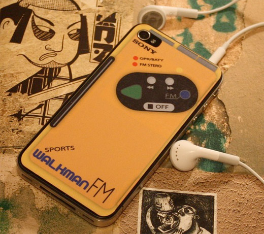 Walkman Sports Skin - Skin Transforma iPhone 4 em Walkman Sony Sports