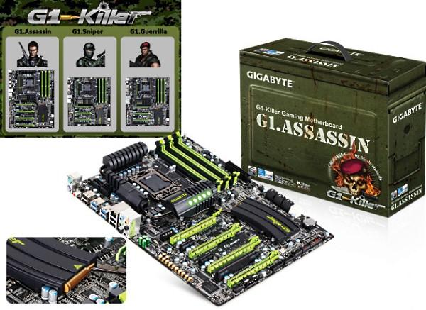 Gigabyte G.Killer Series2 - Novas Placas mãe da Gigabyte: G1.Guerrilla, G1.Assassin e G1.Sniper reveladas - #CES2011