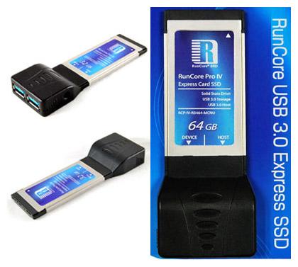 RunCore USB 3.0 ExpressCard - Alta Velocidade do USB 3.0 em Qualquer Notebook!