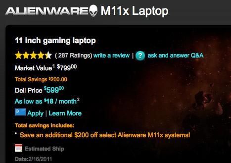 m11x sale - Alienware M11x à venda por menos de 600$