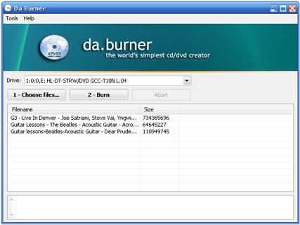 daburner - 14 programas gratuitos para gravar CDs e DVDs.