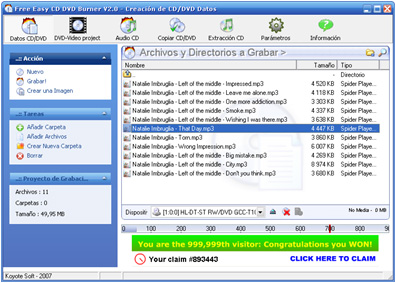 free easy cd dvd burner - 14 programas gratuitos para gravar CDs e DVDs.