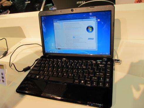 netbook msi u270 - MSI Wind U270 com AMD Fusion