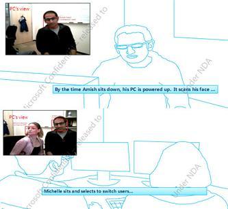 win8kinect3 - Windows 8: Sistema de início de sessão com reconhecimento facial?
