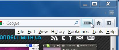 Buttonizer oculta barras de ferramentas de Firefox com um botão