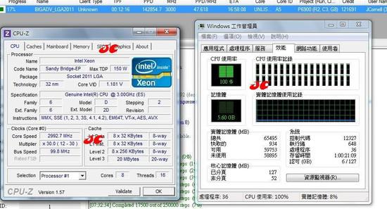 sbep2 - Primeiros dados do Sandy Bridge-EP de 8 núcleos