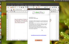 libreoffice 343 290x185 - Já esta disponível o novo Ubuntu 11.10
