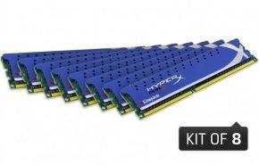 Kits de 4 e 8 módulos de memória DDR3 quad-channel Kingston HyperX Genesis