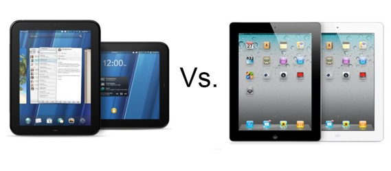 20110819 hp touchpad vs apple ipad 2 - Apple poderia superar a HP em venda de PC e tablets