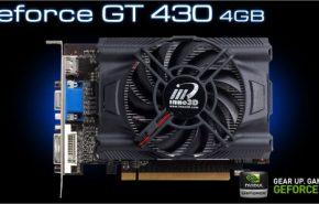 Placa de Vídeo Geforce GT 430 da Inno3D com 4 GB de memória