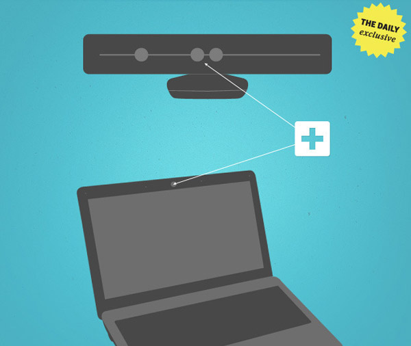 kinect laptop - Microsoft trabalha em laptops com sensores do Kinect