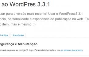 Atualização de segurança no WordPress 3.3.1