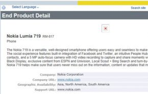 Nokia Lumia 719 novo smartphone com Windows Phone