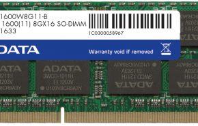 ADATA anuncia memória DDR3 de 8GB a 1600 MHz
