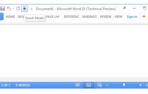 Microsoft Office 15 irá incluir suporte para telas sensíveis ao toque
