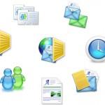 Aqua ícones em PSD e PNG
