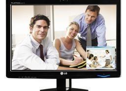 Novo monitor de 22″ LG com webcam e alto-falantes
