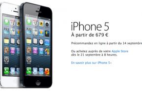 iPhone 5 já tem preço oficial: desde 679 euros