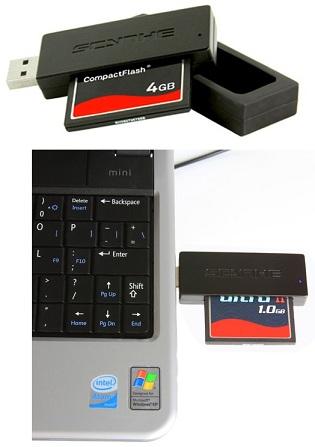scythe usb 3 cf readernjhno321 - Scythe lança leitor de cartões USB 3.0