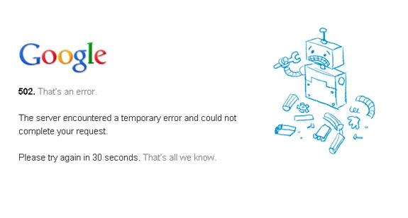 google2 - O Google fica fora do ar e deixa internautas confusos no Brasil