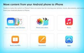 Apple publica sua guia para migrar de Android a iOS